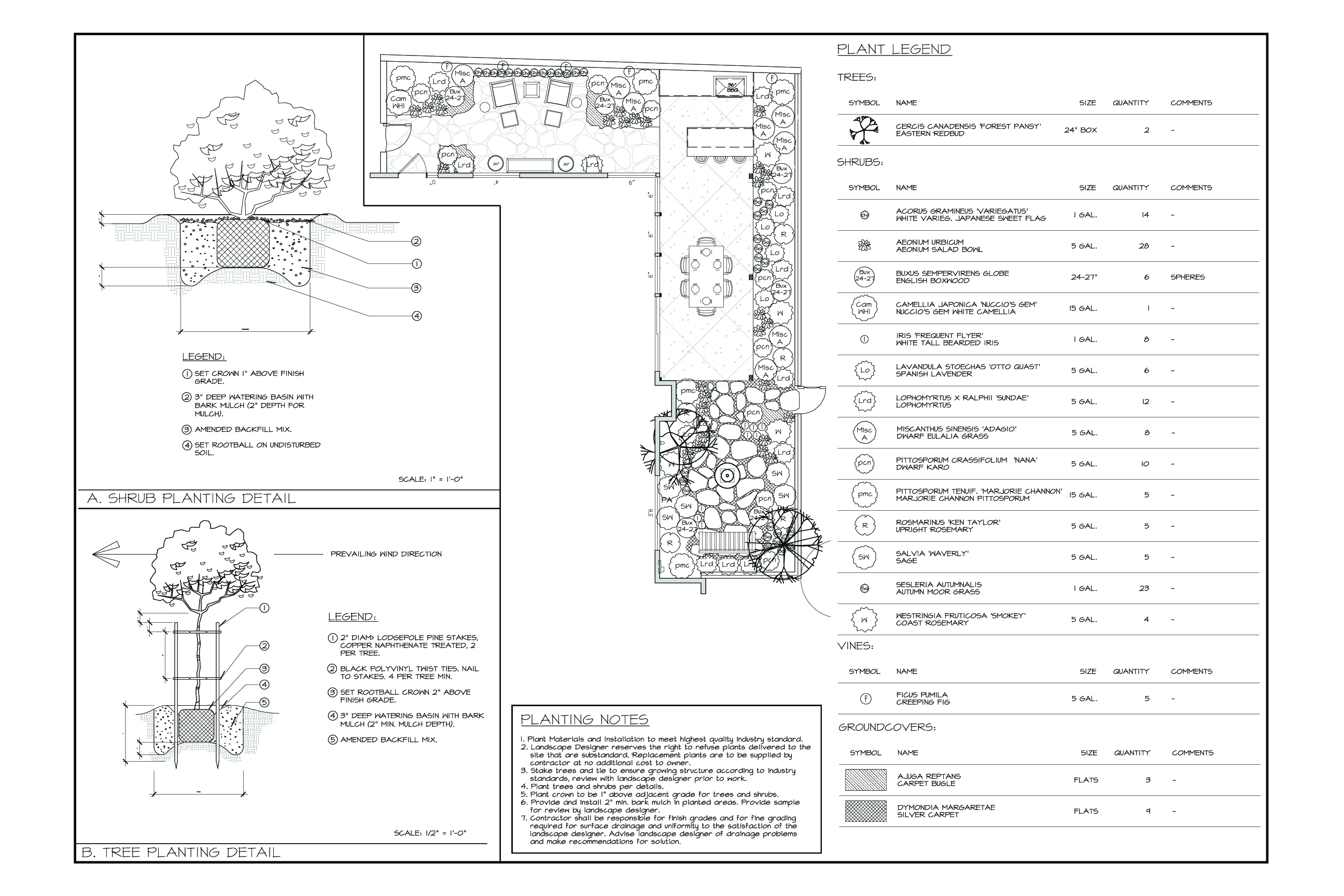 Perennial design perennial design sample landscape plans for Sample landscape plan