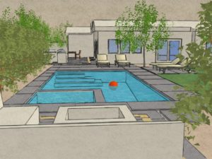 Backyard concept rendering
